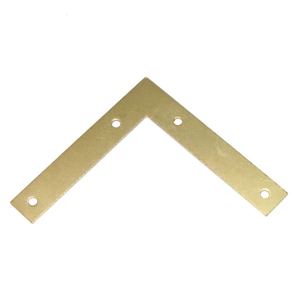 Picture Frame Reinforcement Corner Plate 48x8mm Brass Plated